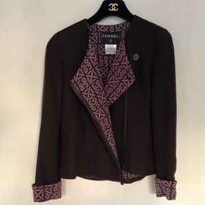 Authentic Chanel Cashmere tweed jacket